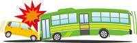 事故 正面衝突 乗用車とバス