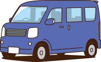 軽ワゴン車 青色