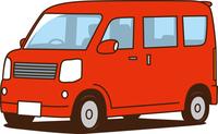 軽ワゴン車 赤色