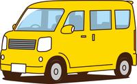 軽ワゴン車 黄色