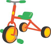 三輪車のイメージイラスト