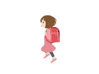 小学生 スキップする 女の子