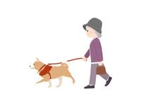 犬の散歩 おばあさん