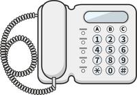ビジネス電話機のイメージイラスト