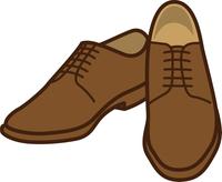 茶色い革靴のイメージイラスト