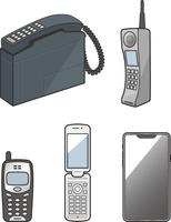 いろいろな携帯電話のイメージイラストセット