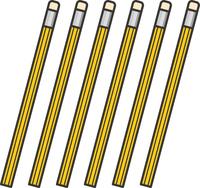 消しゴムつき鉛筆のイラスト