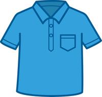 ポロシャツのイメージイラスト