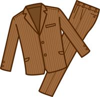 スーツ上下のイメージイラスト(ブラウン)