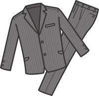 スーツ上下のイメージイラスト(グレー)