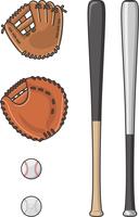 野球道具セットイラスト