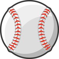 野球の硬式ボールイラスト