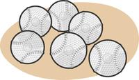 野球の軟式ボールイラスト