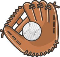 野球のグローブと軟式ボール