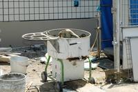 建設作業 セメントミキサー作業