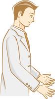 白いタキシードを着ている新郎のイメージイラスト