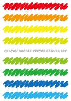クレヨンで描いたバナーセット
