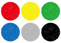 クレヨンテクスチャーの丸い背景セット