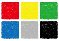 クレヨンテクスチャーの正方形の背景セット
