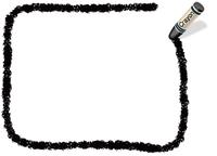 クレヨン手書きフレーム  長方形 黒