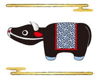 牛の置物 イラスト ベクター