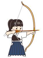 弓道家の女性