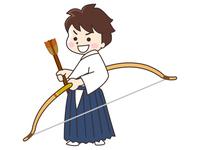 弓道家の男性
