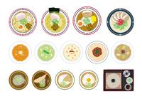麺類イラストセット