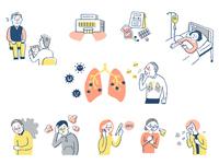 肺炎イメージ セット