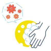 手洗い コロナウイルスを防ぐ イラスト