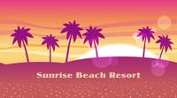 テキストスペース付き シームレスなビーチリゾートの背景