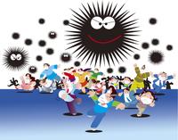新型ウイルス感染と群衆