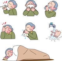 ウイルス感染する老人