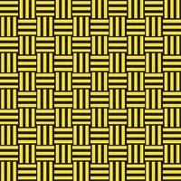 三崩し・網代文様 黒×黄色