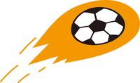 飛ぶサッカーボール