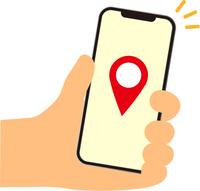 スマートフォンの位置情報確認