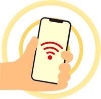 スマートフォンで無線通信