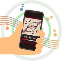 スマートフォンで音楽を聴く