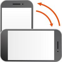 スマートフォンの縦横切替