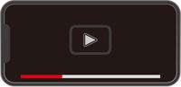 スマートフォンの動画再生画面