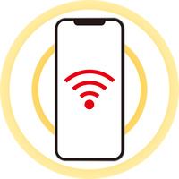 スマートフォンの無線通信画面