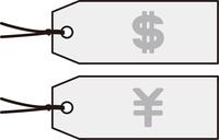 ドルと円のタグ