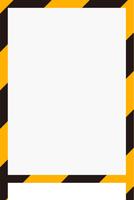 黄色と黒のストライプ看板