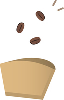 ドリッパーとコーヒー豆