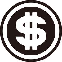 ドルのコインアイコン