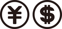 ドルと円のコイン
