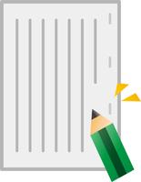資料と鉛筆
