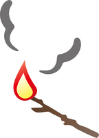 燃える木の枝