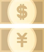 ドル紙幣と円紙幣