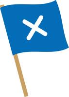 ばつ印の旗